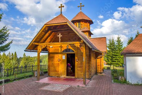 Wooden monastery of Saint Cosmas and Damian on the Zlatar mountain, Serbia