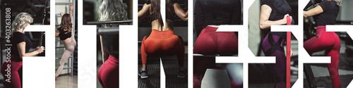 Obraz na plátně girls in gym