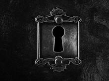 Vintage Lock Keyhole Closeup