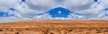 Beautiful Desert On Fuerteventura Island, Canary , Spain.