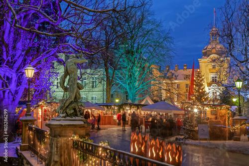 Weihnachtzauber Schloss Bückeburg Fototapeta
