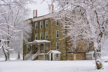 Old Hotel In The Snow