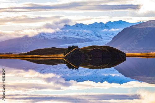 Foto Wasserspiegelung auf Island