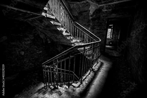Canvastavla Das Treppenhaus