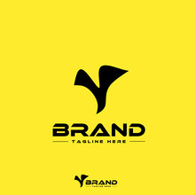 Logo Design Template, With Black Letter Y Icon