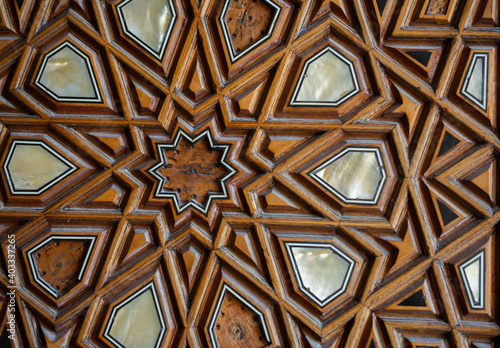 Ottoman art example of Mother of Pearl inlays from Turkey Fototapet