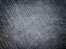 Texture Of Old Background With Decorative Plaster Dark Gray And Black Colors.