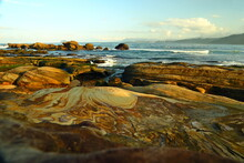 Natural Rock Formation At Guihou, One Of Most Famous Wonders In Wanli, New Taipei City, Taiwan.