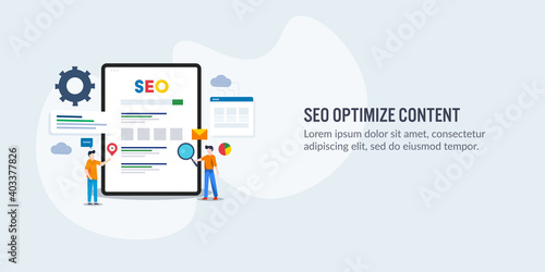 Vászonkép Content optimization for better search engine ranking on web