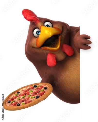 Fun chicken Fototapete