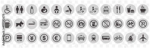 illustration of sign  icon set vector Tapéta, Fotótapéta