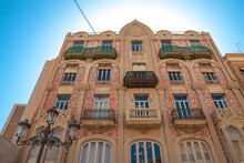 Valencia, Spain - 07-21-2019: Beautiful Spanish Architecture Captured On Sunny Day During The Summer Holiday. Editorial Use Only.