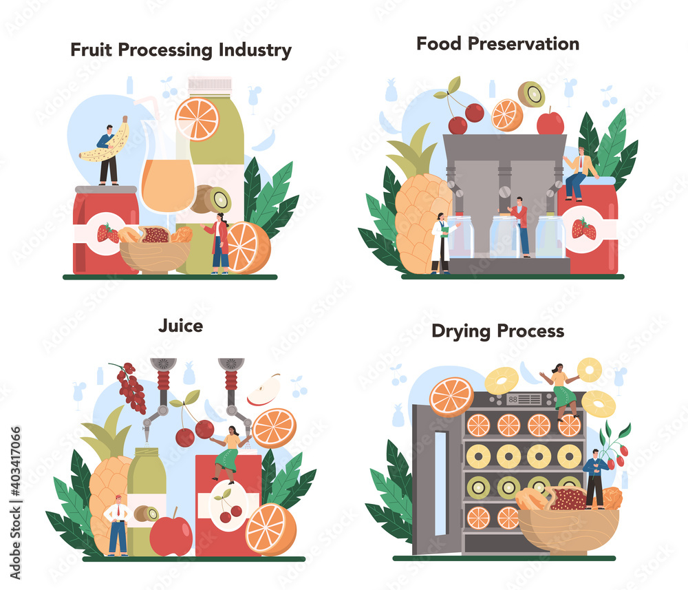 Fototapeta Fruit farming industry. Idea of agriculture and cultivation. Organic harvest