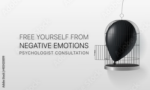Fotografie, Tablou Free yourself from negative emotions