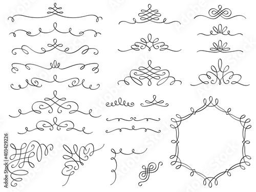 Obraz カリグラフィー装飾セット - fototapety do salonu