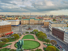 Panoramic View Over St. Petersburg, Russia, From St. Isaac Cathedral.
