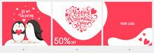 Valentine's Day Carousel Post Template For Social Media