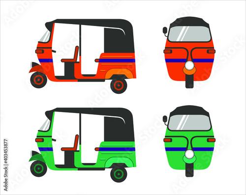 Fototapety, obrazy: illustration of tuk tuk, traditional public transportation in asian.