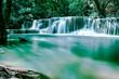long exposure waterscape of Huai Mae kamin waterfall kanchaburi Thailand