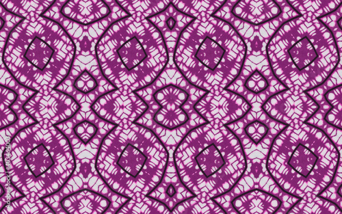Colorful African fabric – Seamless and textured pattern, cotton, photo  - fototapety na wymiar