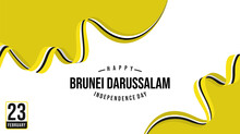 Brunei Darussalam Independence Day With Brunei Darussalam Flag Color Background