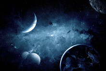 Planets In Outer Space. Elements Of This Image Furnished By NASA