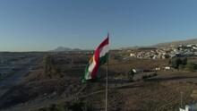 Kurdistan Flag Drone Shoot 4K Sulaymaniyah