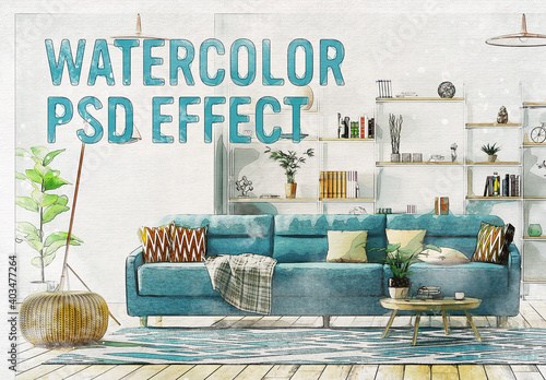 Obraz Watercolor Photo Effect - fototapety do salonu