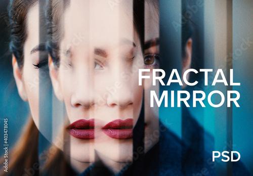 Obraz Fractal Mirror Effect - fototapety do salonu