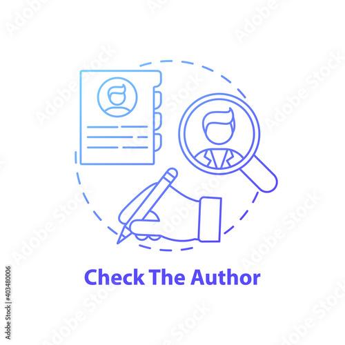 Canvas Print Checking author concept icon