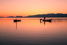 Wonderful Sunset Fishermen In Silifke Dalyan