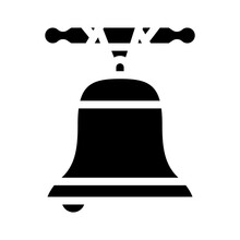 Church Bell Glyph Icon Vector Illustration Black