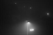Street Lamp In Dense Fog