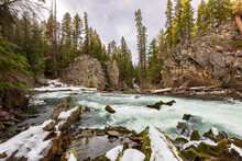 Benham Falls In Central Oregon - Deschutes National Forest