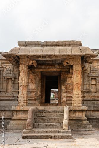 Tela Hampi, Karnataka, India - November 5, 2013: Sri Krishna temple in ruins