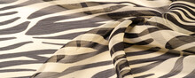 Collection Of Textural Background, Silk Fabric, Zebra Skin In The African Style. For The Designer, Sketch Layout, Decorator Entourage.