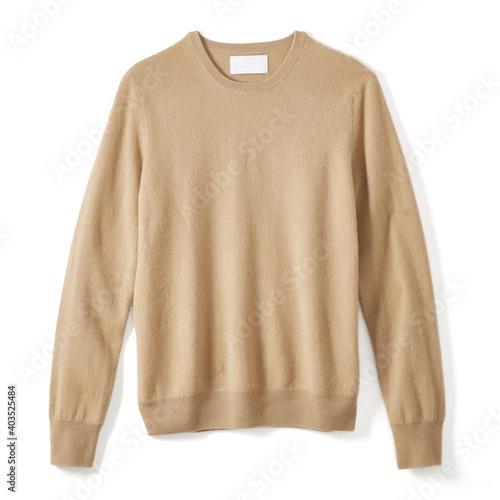 Fotografie, Obraz Classic Cashmere Crew Neck Sweater Isolated on White Background