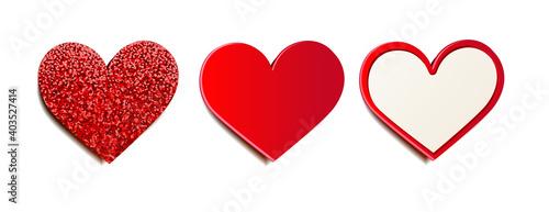 Obraz Heart label set with texture mix - fototapety do salonu