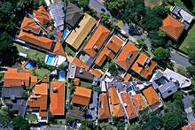 Vista Aerea Casas No Bairro Vila Leopoldina. São Paulo