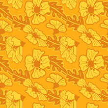 Yellow Wildflowers With Ornamental Leaves