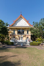 Nan Province, Thailand : 26 DECEMBER 2020 : Scenery View Of Nan National Museum In Nan Province Of Thailand. One Of The Most Famous Iconic Landmark Of Nan Province.