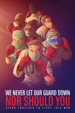 Awareness Poster To Encourage The Healthcare Workers Who Risk Their Life At The Frontline