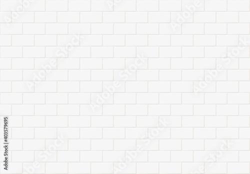 Papel de parede White rectangle mosaic tiles texture background