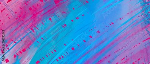 Fototapeta Web banner sfondo azzurro porpora texture futuristico moderno creativo geometrico contemporaneo  obraz