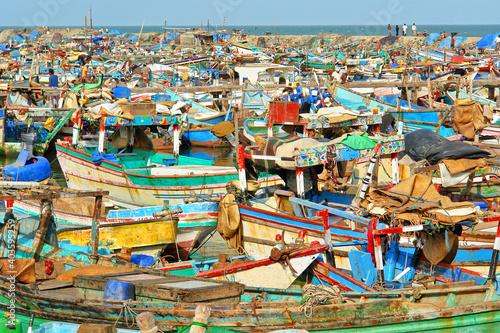 Fototapeta Al-Hudaydah  fishing port in Jemen on the Red Sea obraz