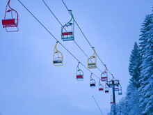 Old And Colorful Ski Lift