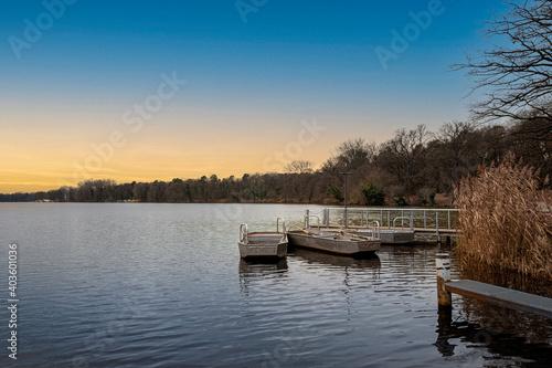 Fotografie, Obraz Metal rowing boats