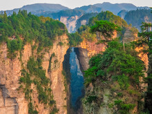 Avatar Mountains In The Mountains Of Zhangjiajie National Park In China, Natural Stone Bridge