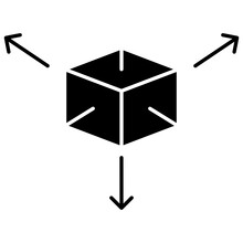 3D Item Box Concept Vector Icon Design, Digital Gaming Symbol On White Background