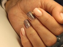 Glamorous Beautiful Manicure On A Trendy Texture